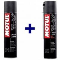 Motul C3 Off Road Chain Lube & C1 Chain Cleaner