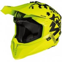 MT Falcon Karson Motorcross Helmet Matt Flou Yellow