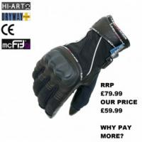 Lindstrands Orbital Extra Large Textile Gloves - Black