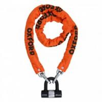 Oxford HD Orange Chain Lock Heavy Duty Chain and Padlock 1.5 Metre