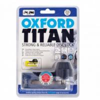 Oxford Titan Chrome Disc-Lock & Pouch - BLACK