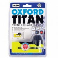 Oxford Titan Chrome Disc-Lock & Pouch YELLOW
