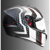 MT STINGER WARHEAD HELMET (BLACK, WHITE & RED)