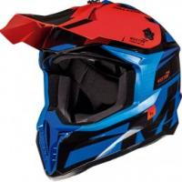MT Falcon Weston Motorcross Helmet Blue/Blk/Red
