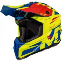 MT Falcon Weston Motorcross Helmet Blue/Flou Yellow/Red